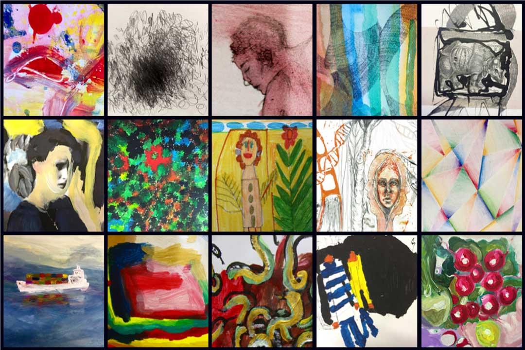 »Jeder Schimpanse malt besser als ihr!« Arbeiten des Inklusivateliers / Offener Raum für Kunst und Denken 7. Dezember 2018 – 13. Januar 2019