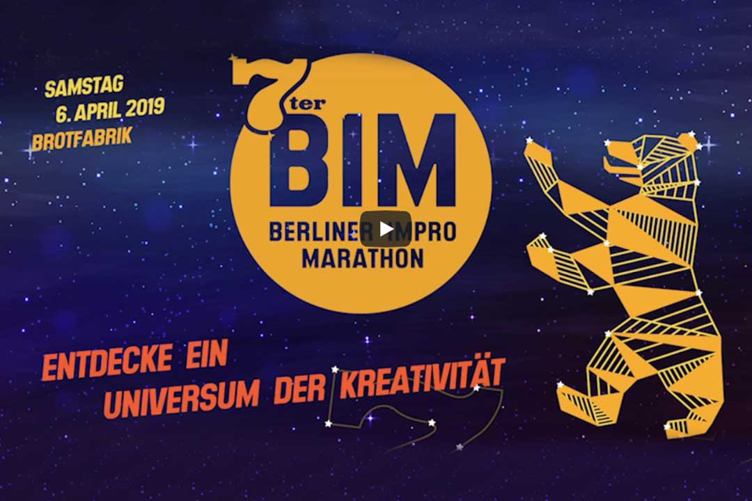   FESTIVAL Sa. 06.04.   18:00 – 4:00 Uhr 7. Berliner Impro Marathon